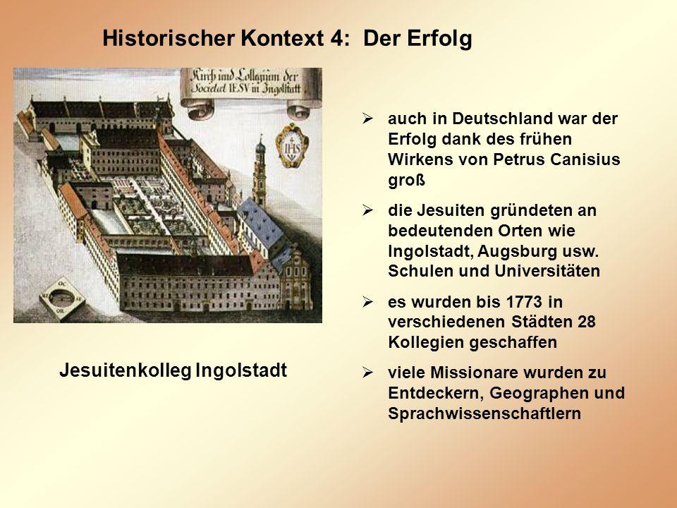 Historischer Kontext 4: Der Erfolg