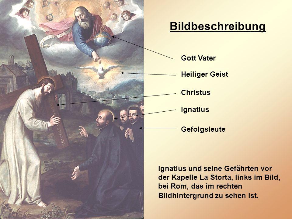 Bildbeschreibung Gott Vater Heiliger Geist Christus Ignatius