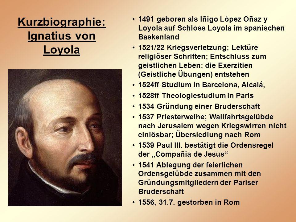 Kurzbiographie: Ignatius von Loyola