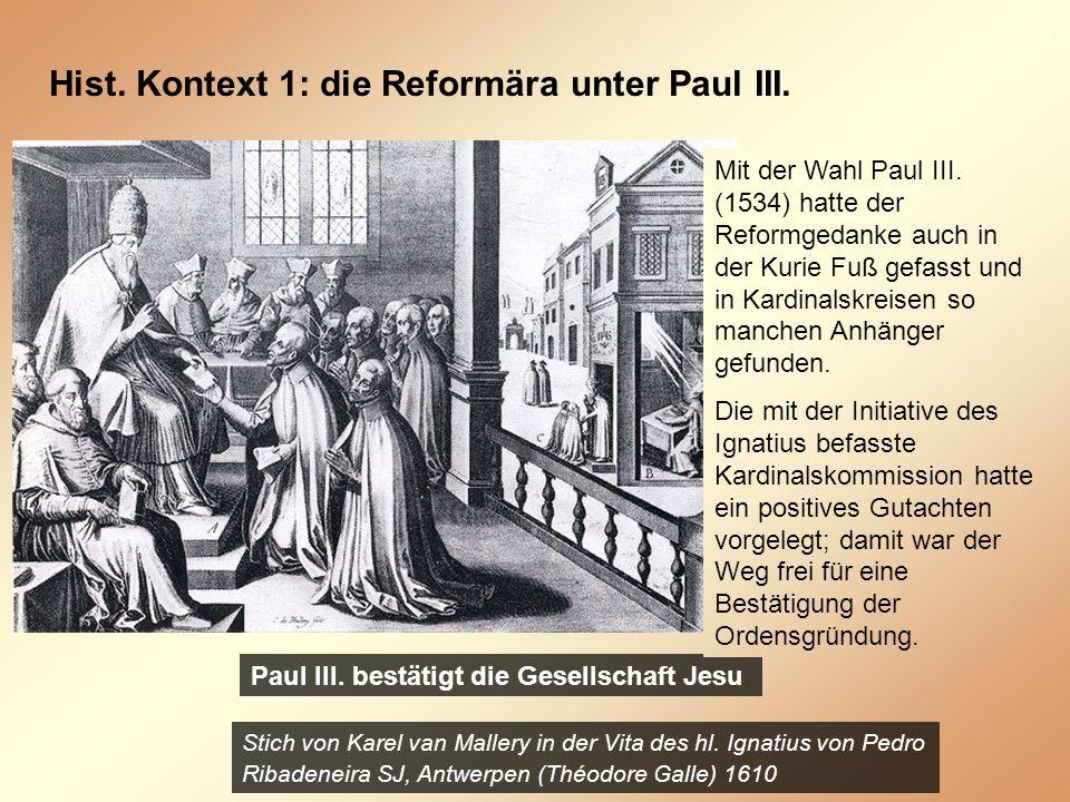 Hist. Kontext 1: die Reformära unter Paul III.