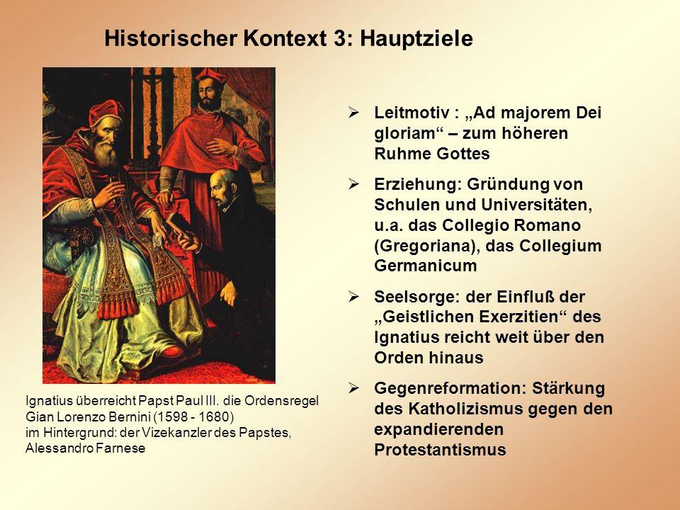 Historischer Kontext 3: Hauptziele