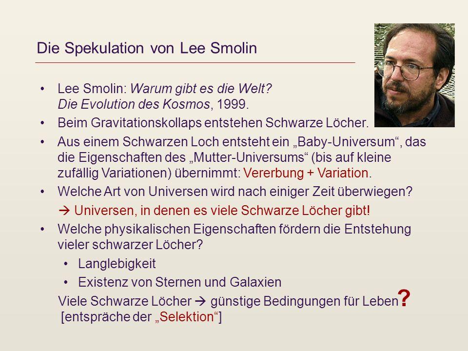 Die Spekulation von Lee Smolin