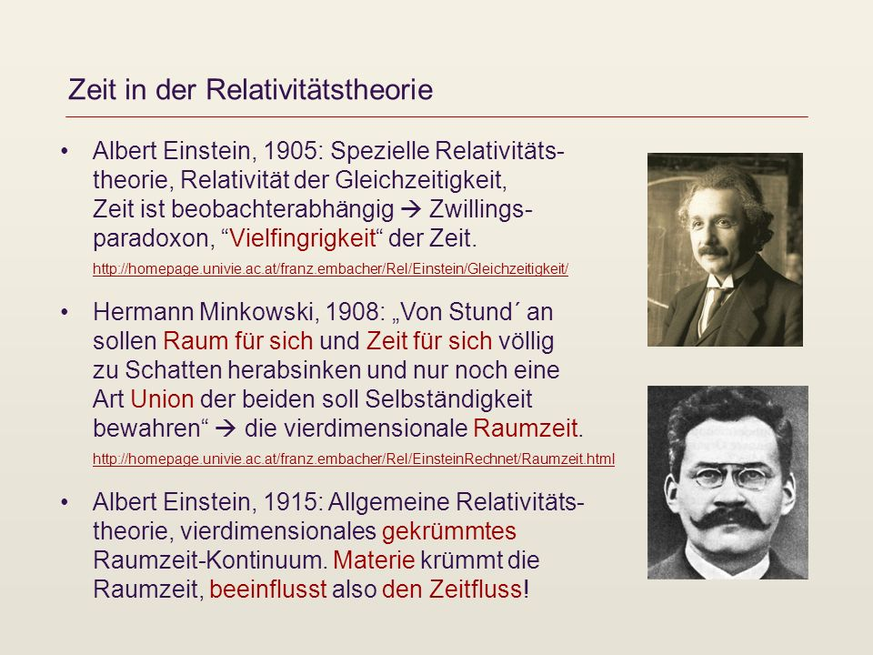 Zeit in der Relativitätstheorie