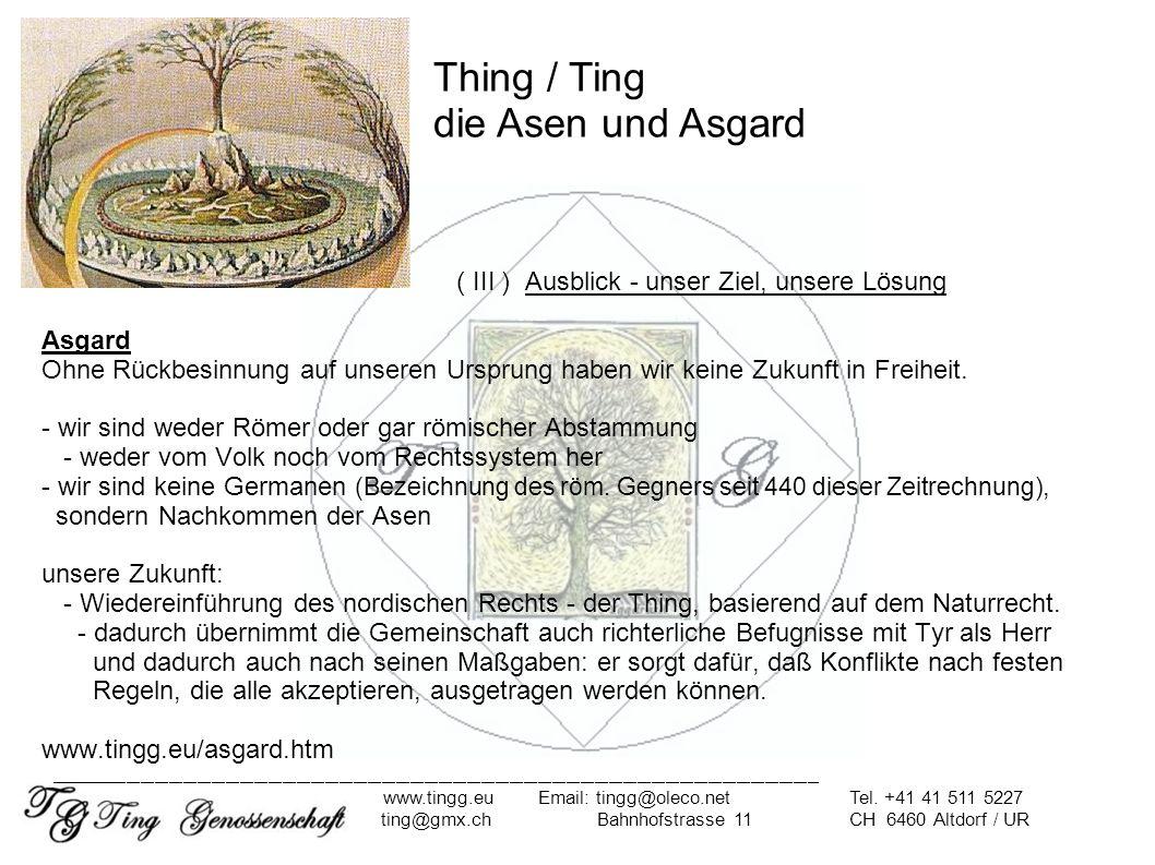 Thing / Ting die Asen und Asgard