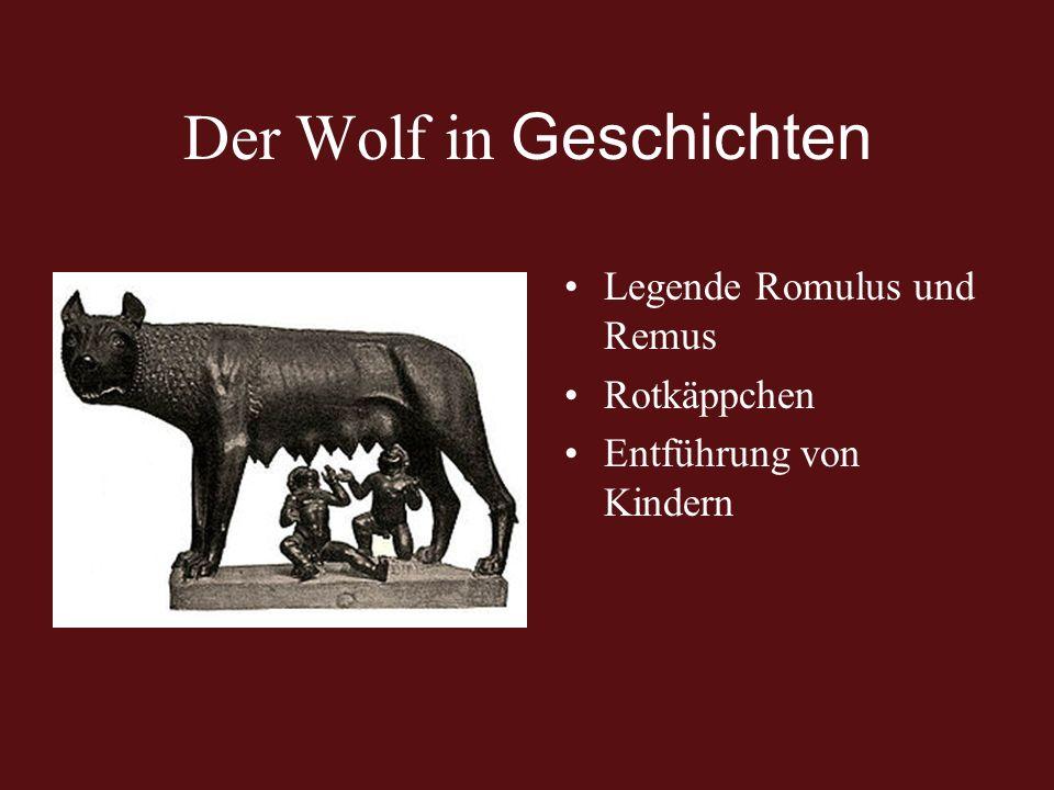 Der Wolf in Geschichten