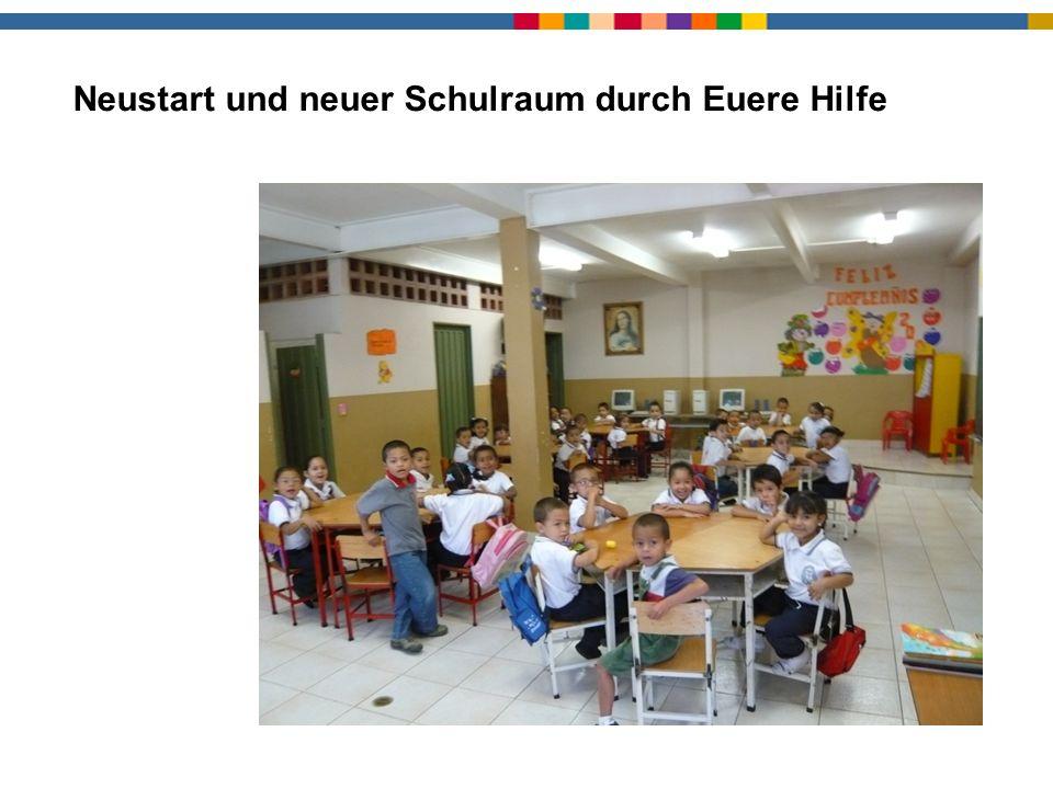 Neustart und neuer Schulraum durch Euere Hilfe