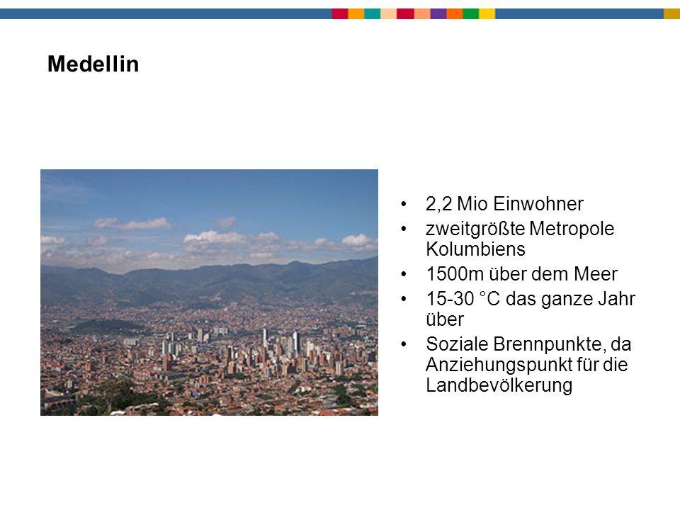 Medellin 2,2 Mio Einwohner zweitgrößte Metropole Kolumbiens