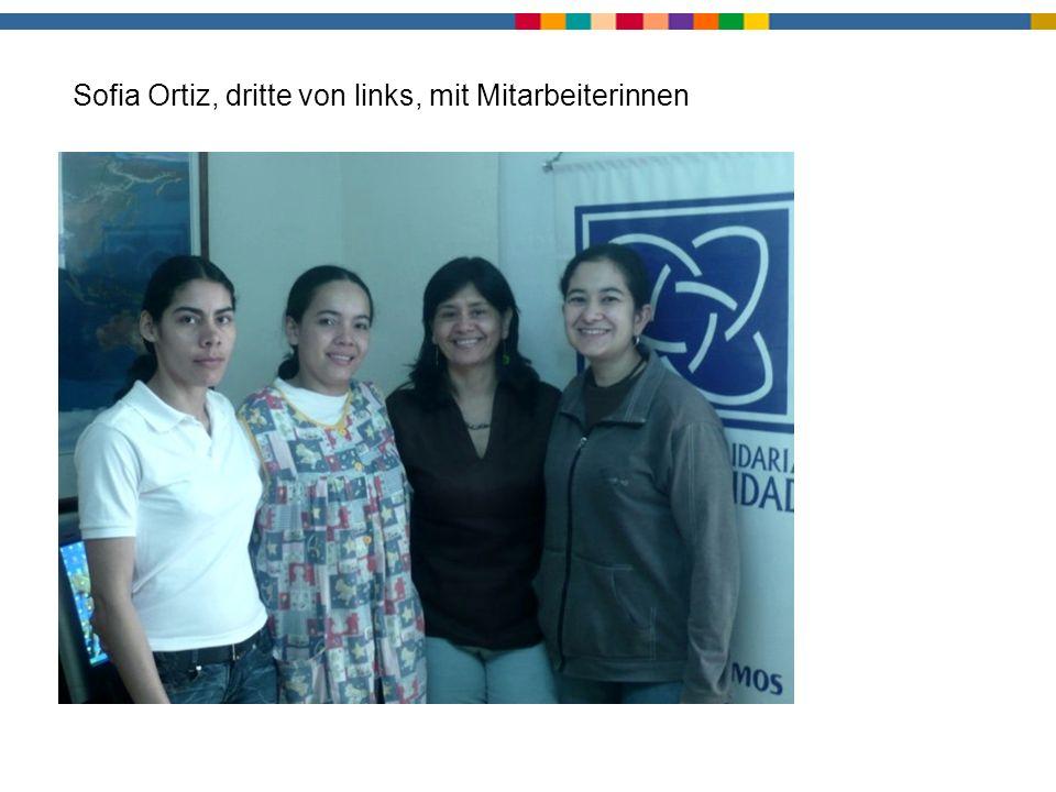 Sofia Ortiz, dritte von links, mit Mitarbeiterinnen