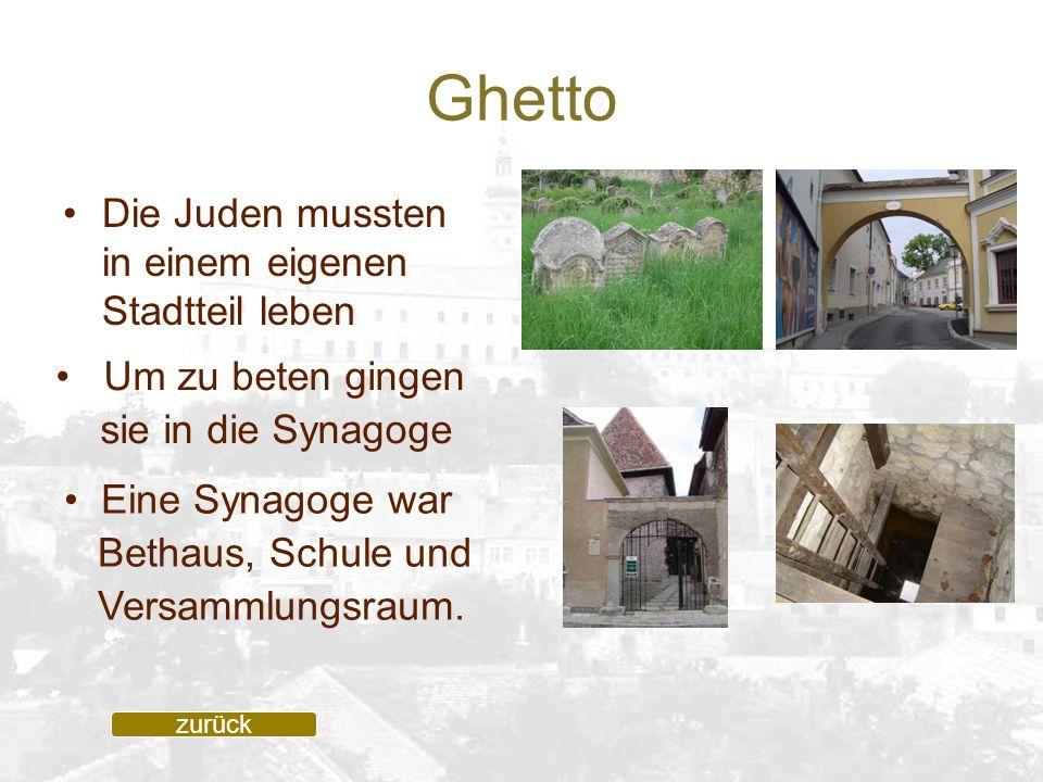 Ghetto Die Juden mussten in einem eigenen Stadtteil leben