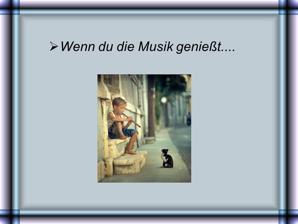 Wenn du die Musik genießt....
