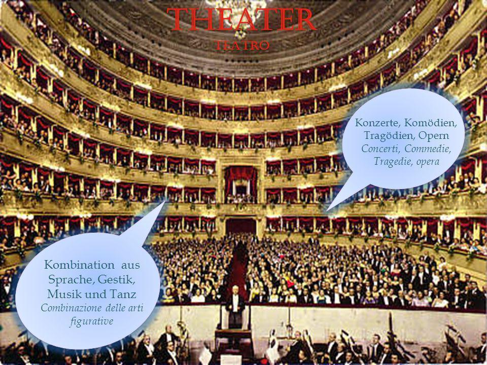Theater TEATRO Kombination aus Sprache, Gestik, Musik und Tanz