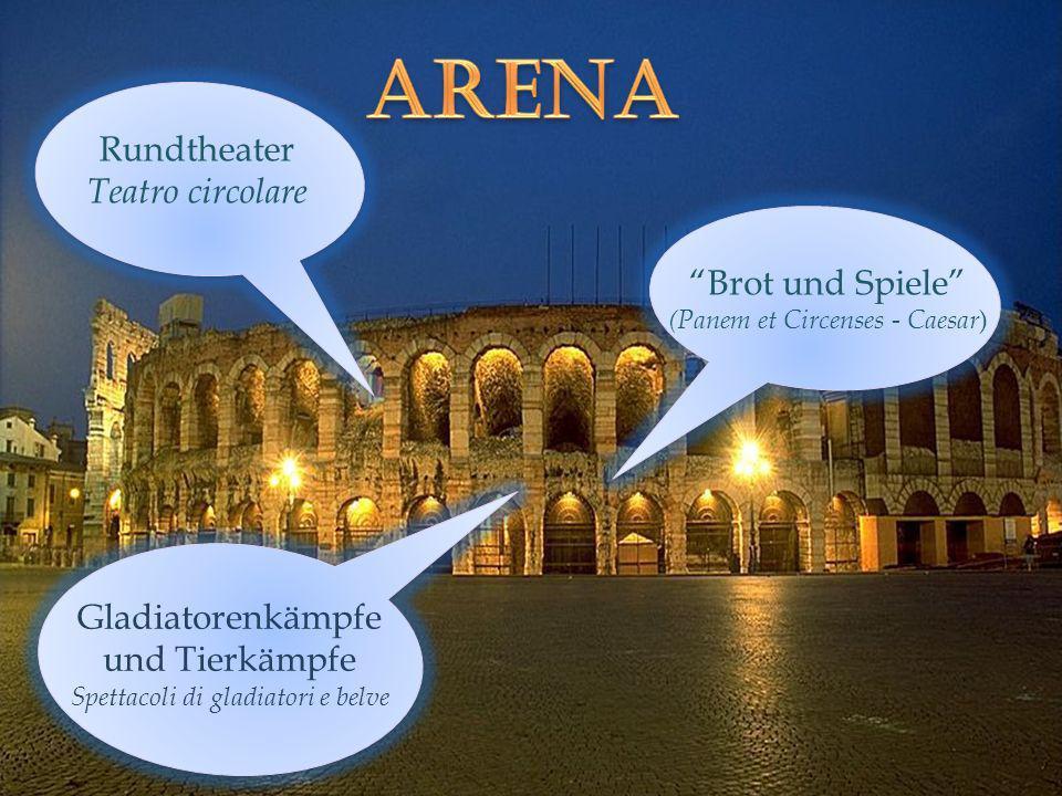 Arena Rundtheater Teatro circolare Brot und Spiele