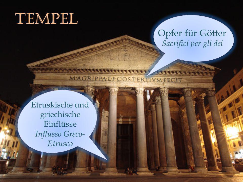 tempEL Opfer für Götter Sacrifici per gli dei