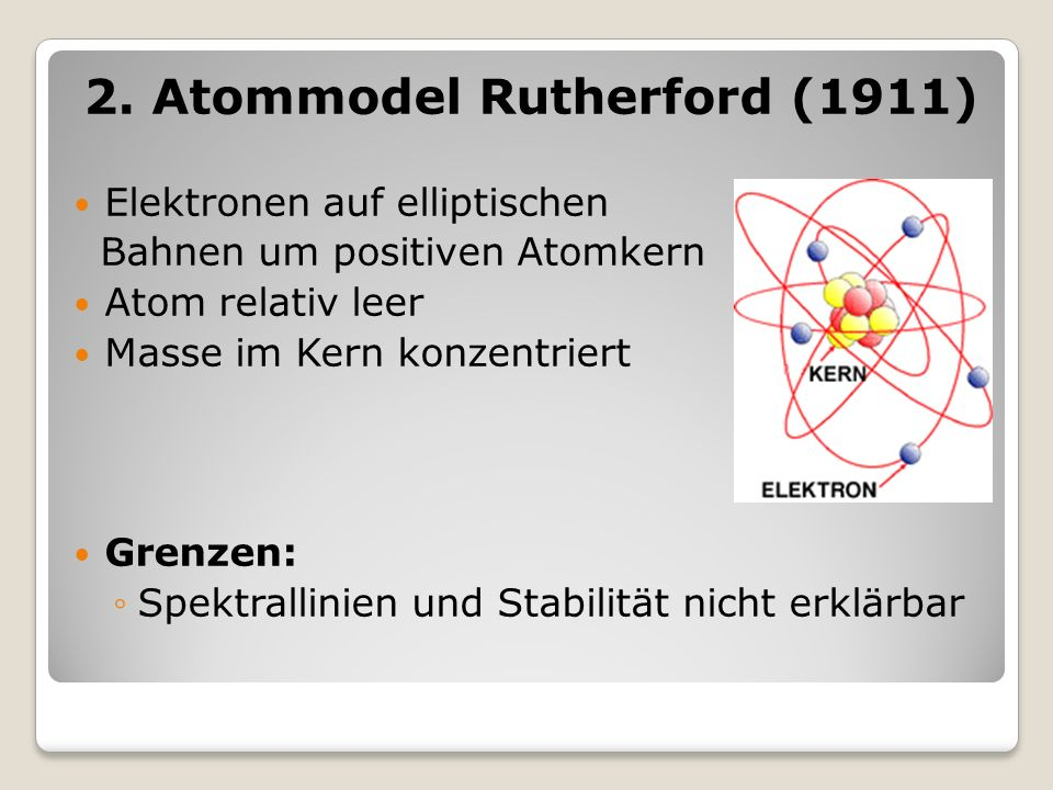 2. Atommodel Rutherford (1911)