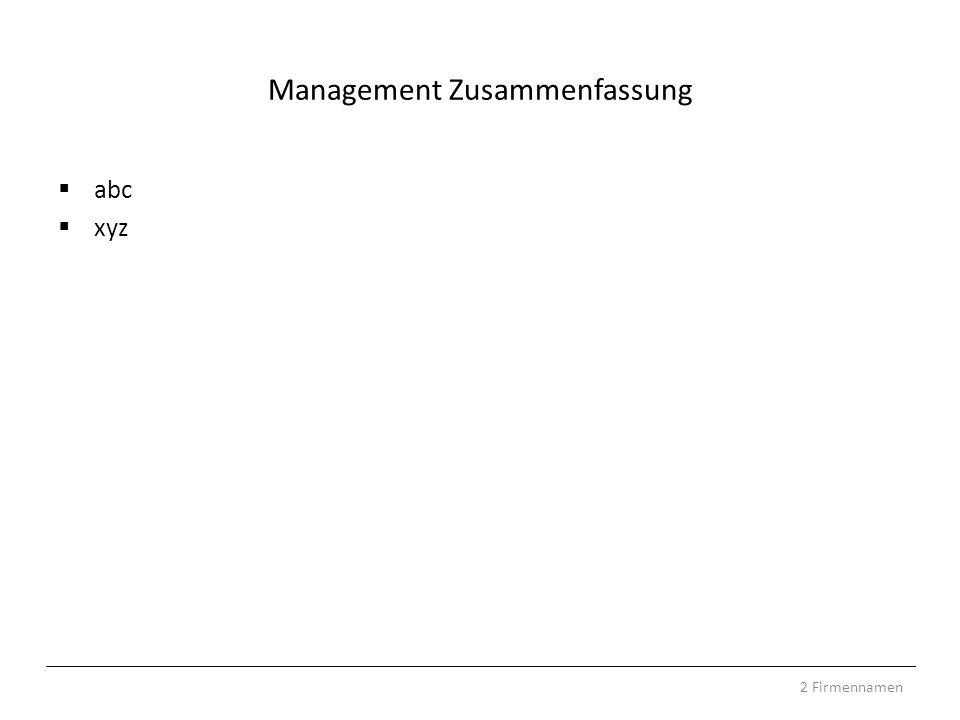 Management Zusammenfassung