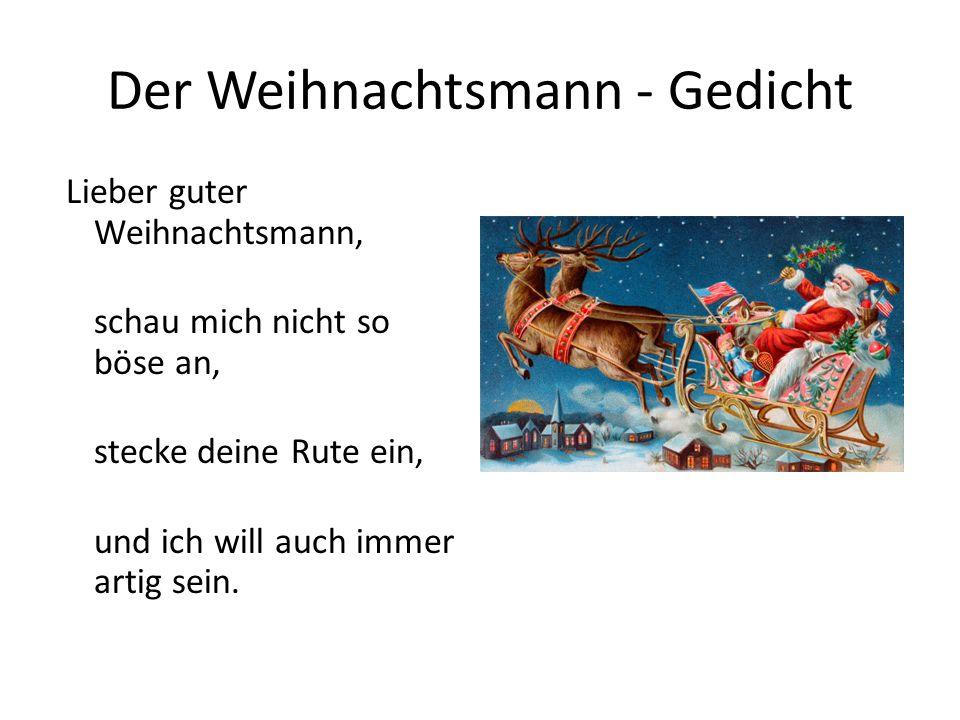 Der Weihnachtsmann - Gedicht