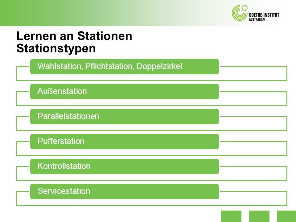 Lernen an Stationen Stationstypen