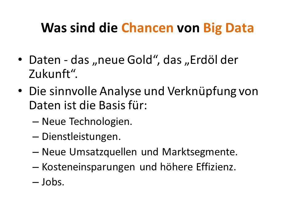 Was sind die Chancen von Big Data
