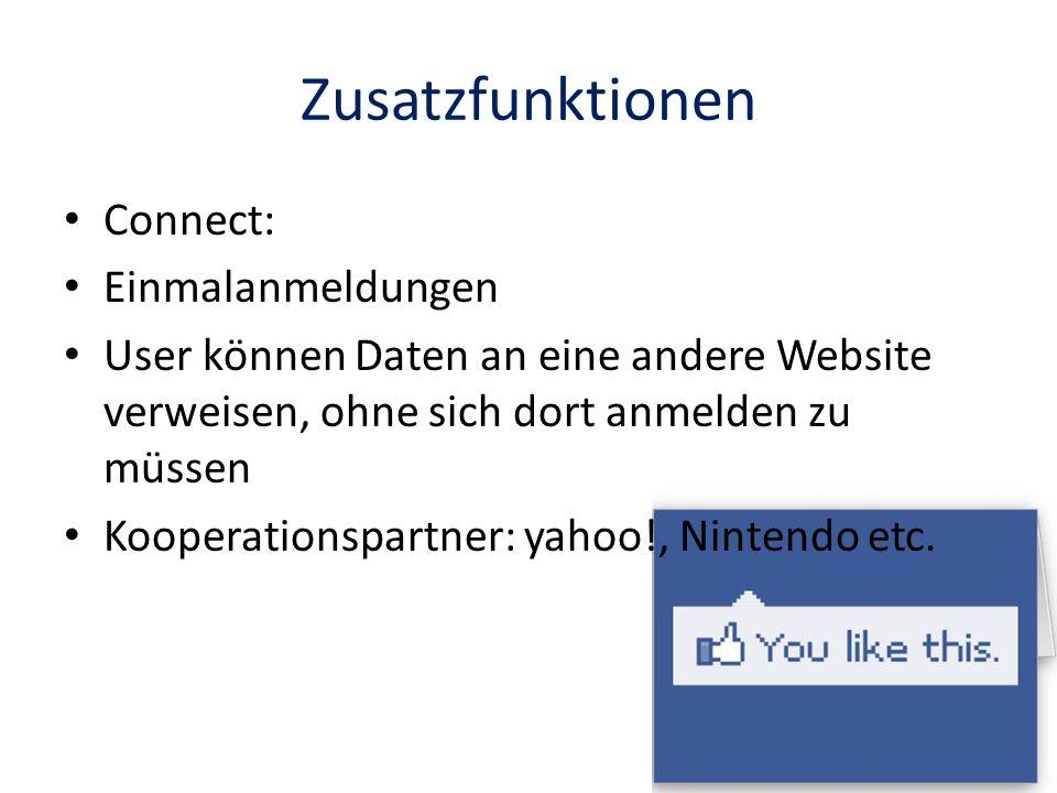 Zusatzfunktionen Connect: Einmalanmeldungen