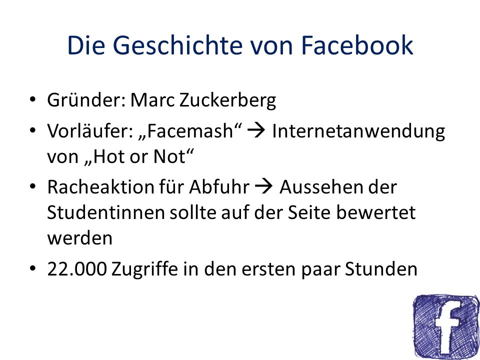 Die Geschichte von Facebook