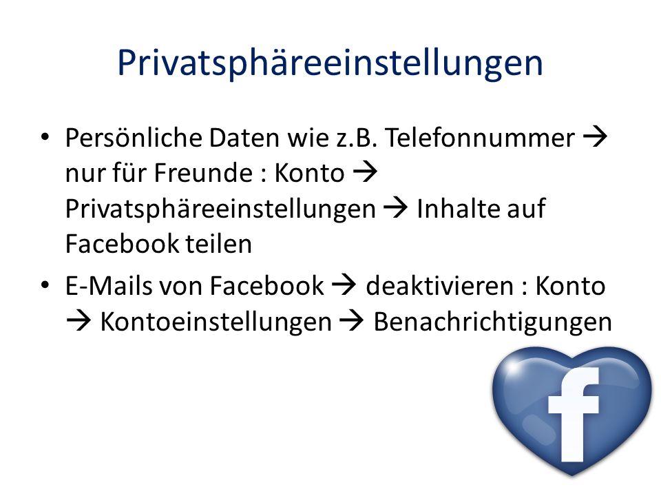 Privatsphäreeinstellungen