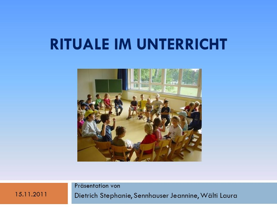 Präsentation von Dietrich Stephanie, Sennhauser Jeannine, Wälti Laura
