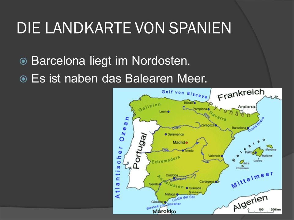 DIE LANDKARTE VON SPANIEN