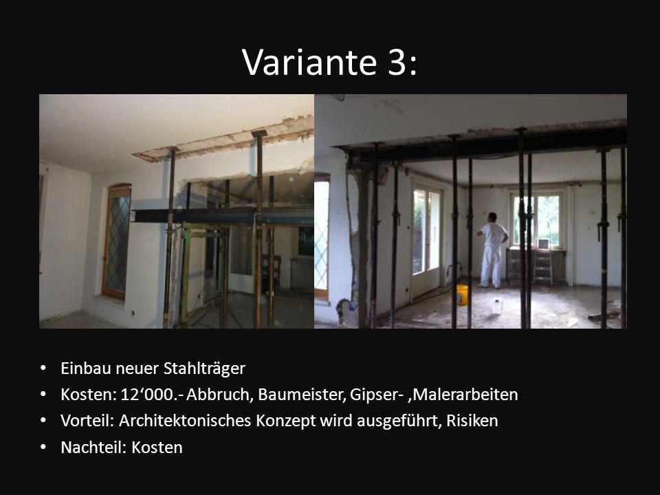 Variante 3: Einbau neuer Stahlträger