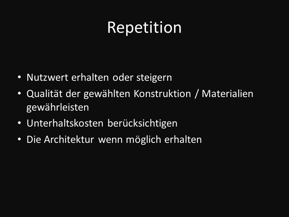Repetition Nutzwert erhalten oder steigern