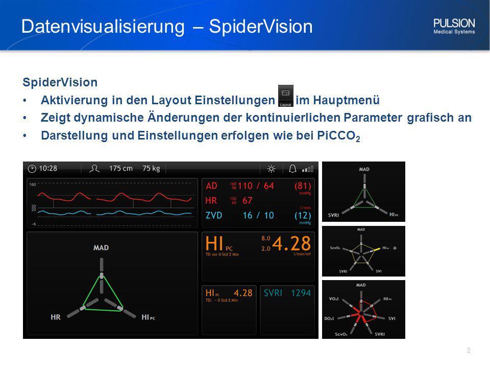 Datenvisualisierung – SpiderVision