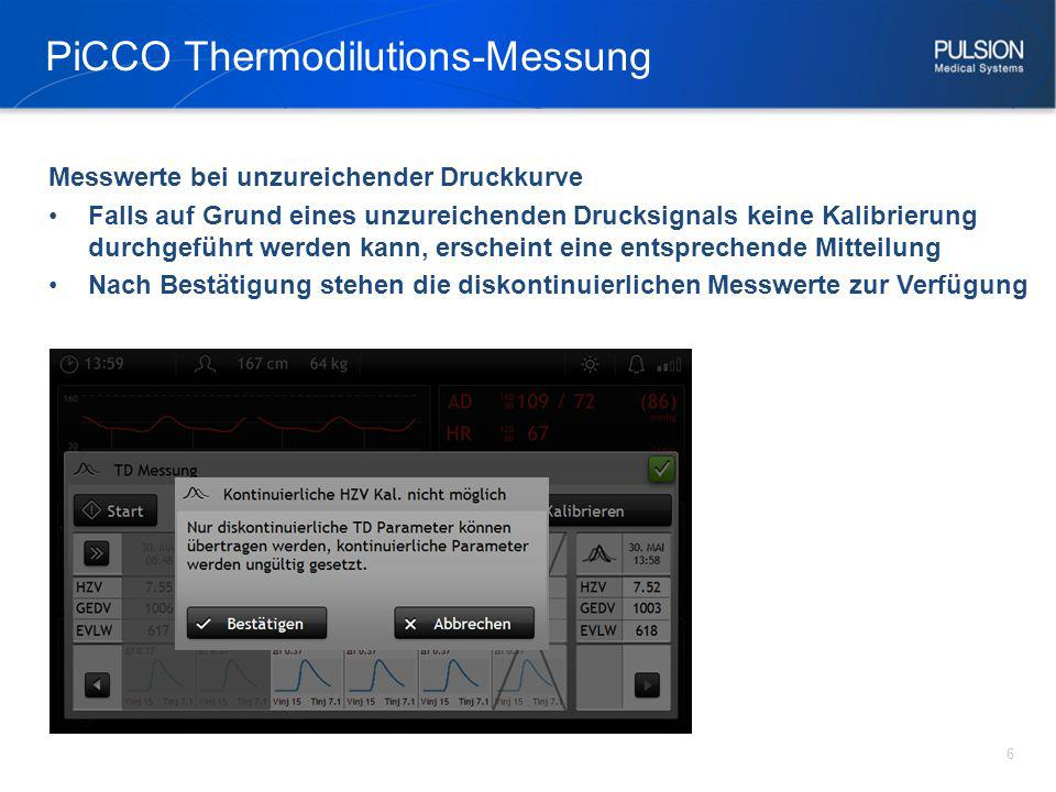 PiCCO Thermodilutions-Messung