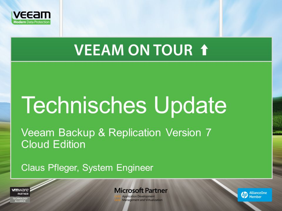 Technisches Update Veeam Backup & Replication Version 7 Cloud Edition