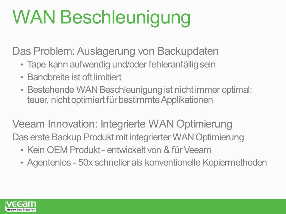 WAN Beschleunigung Das Problem: Auslagerung von Backupdaten