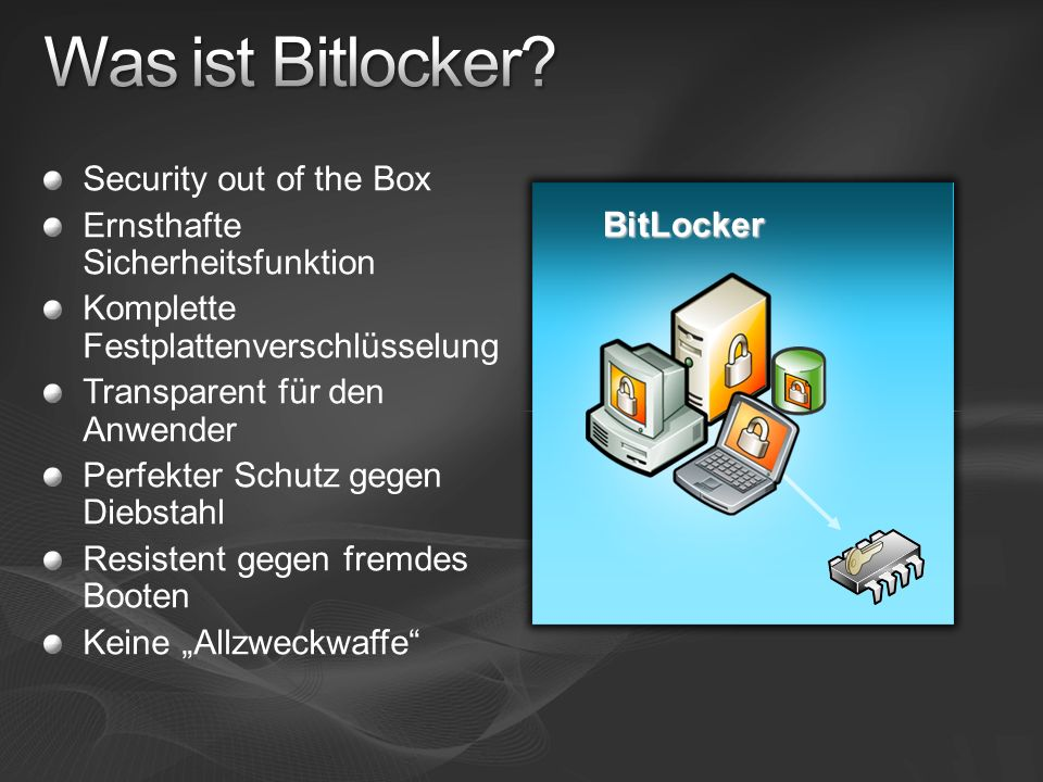 Was ist Bitlocker Security out of the Box