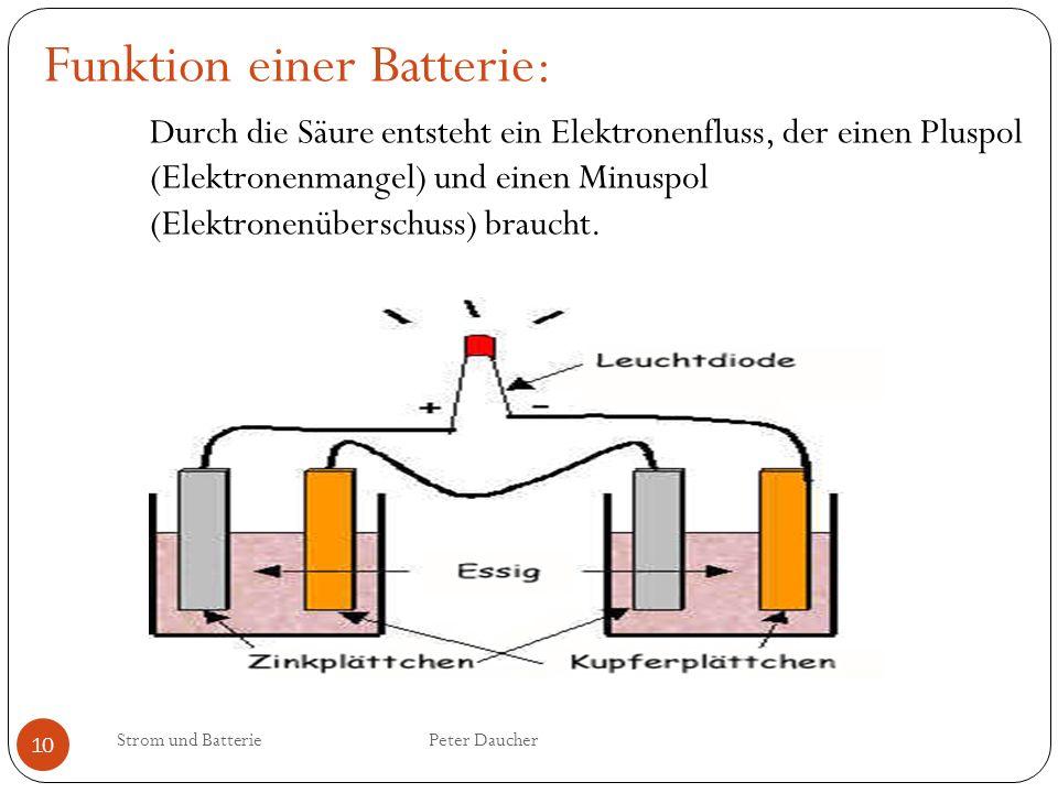 Funktion einer Batterie:
