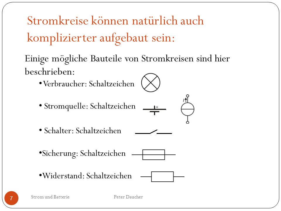 Inhalt Strom Batterie Strom und Batterie Peter Daucher. - ppt video ...