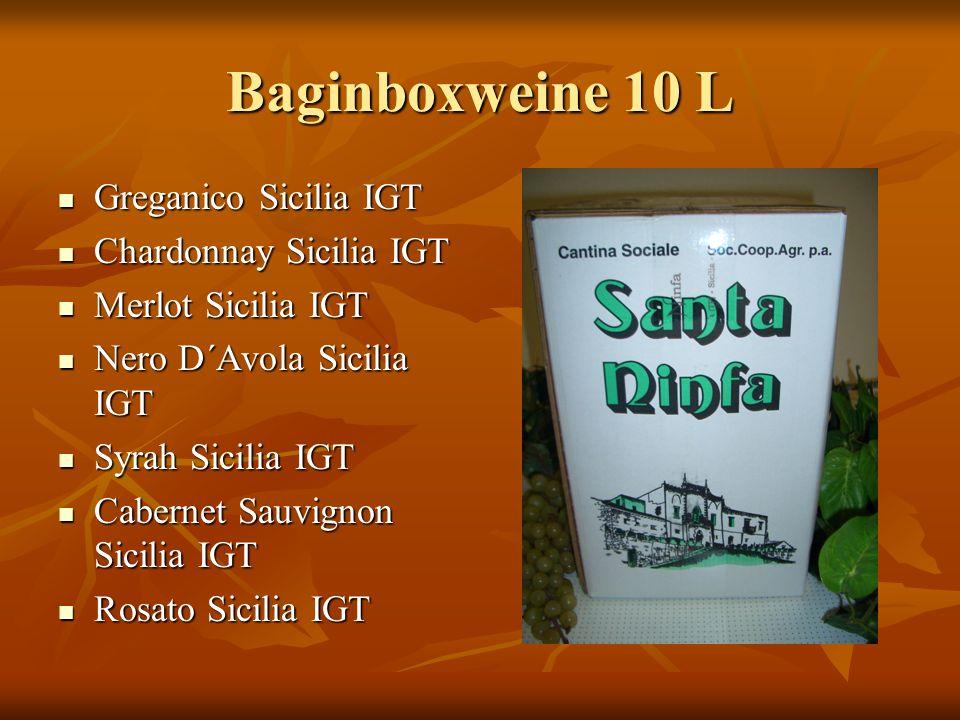 Baginboxweine 10 L Greganico Sicilia IGT Chardonnay Sicilia IGT