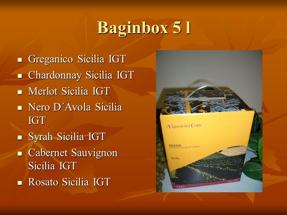 Baginbox 5 l Greganico Sicilia IGT Chardonnay Sicilia IGT