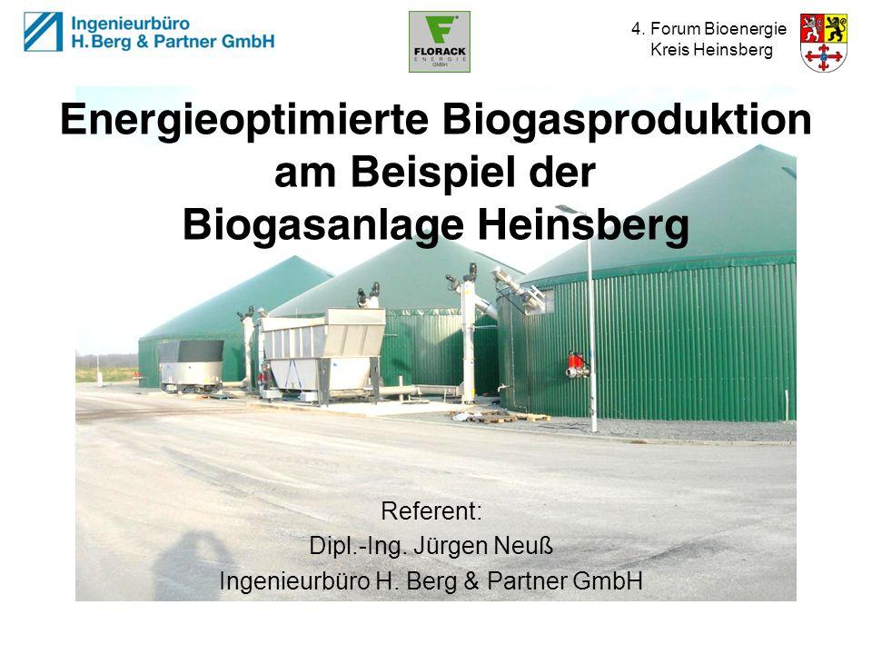 Referent: Dipl.-Ing. Jürgen Neuß Ingenieurbüro H. Berg & Partner GmbH