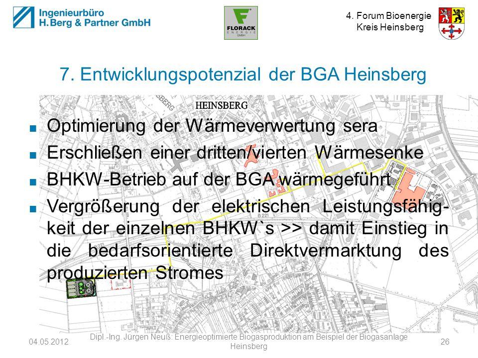 7. Entwicklungspotenzial der BGA Heinsberg