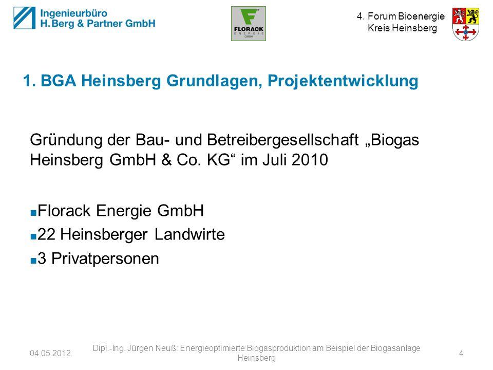 1. BGA Heinsberg Grundlagen, Projektentwicklung