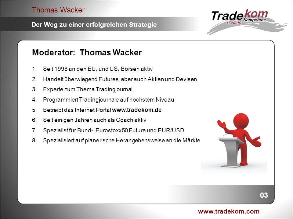 Moderator: Thomas Wacker