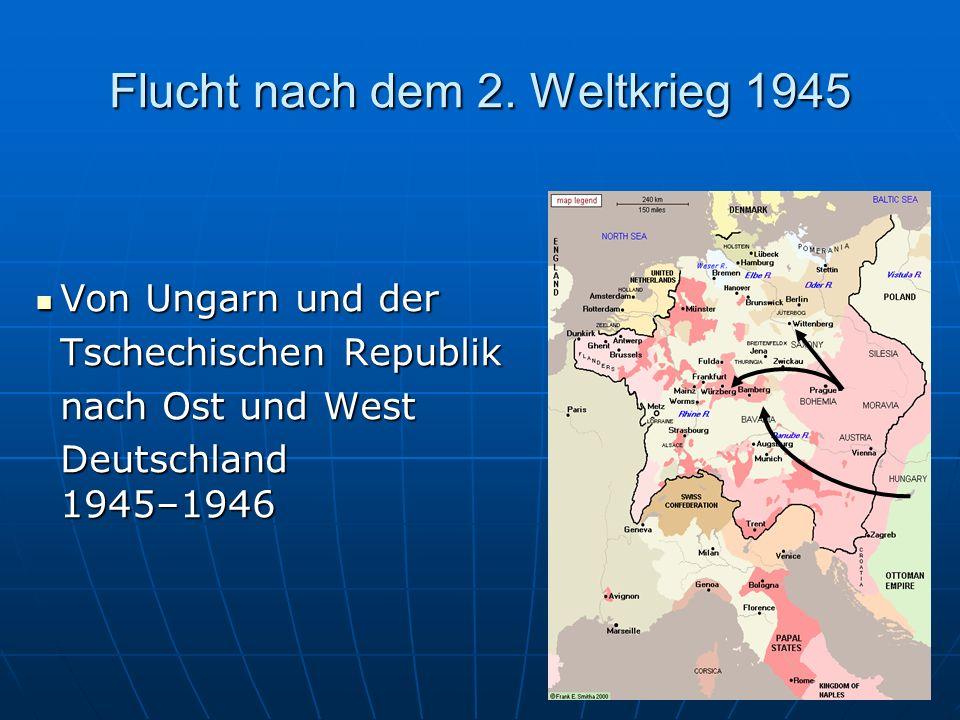 Flucht nach dem 2. Weltkrieg 1945