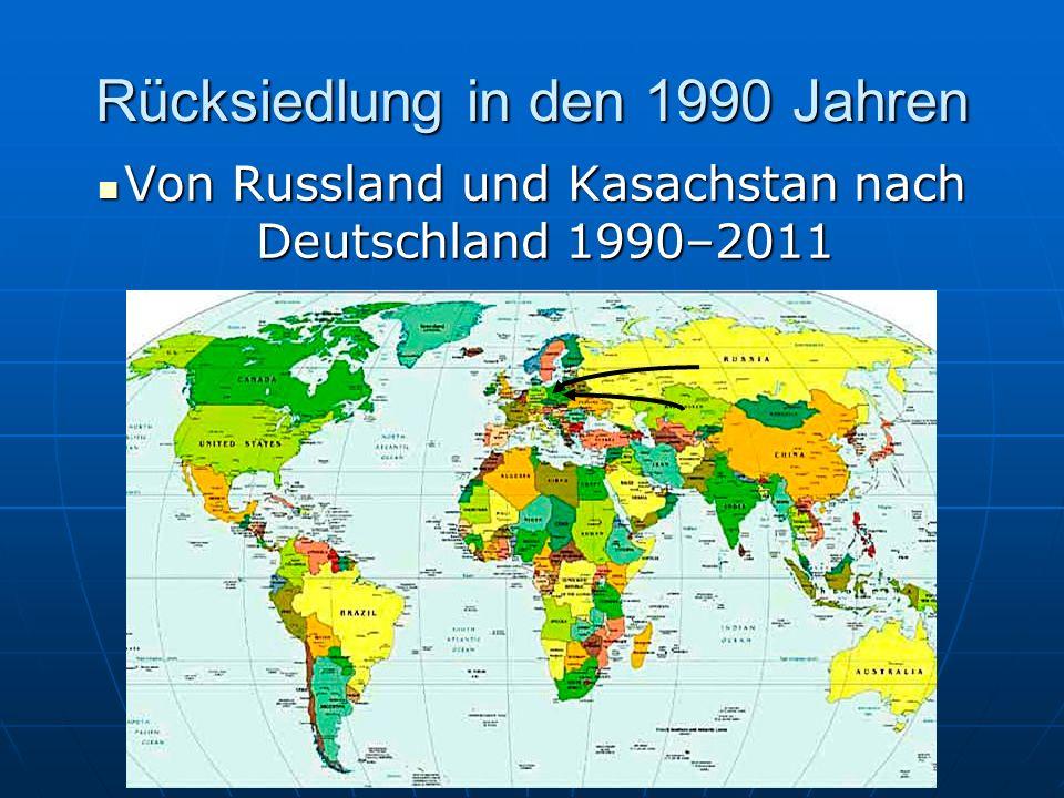 Rücksiedlung in den 1990 Jahren