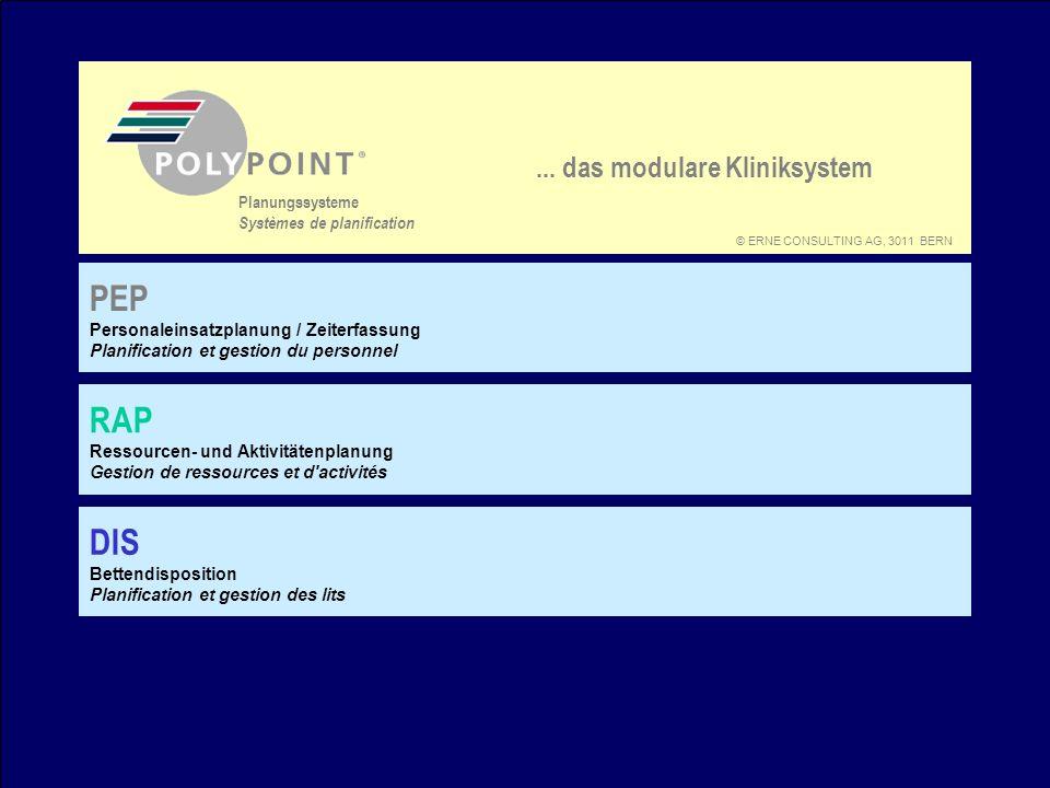 PEP RAP DIS ... das modulare Kliniksystem Planungssysteme