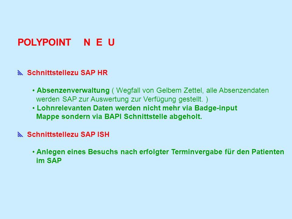 POLYPOINT N E U  Schnittstellezu SAP HR