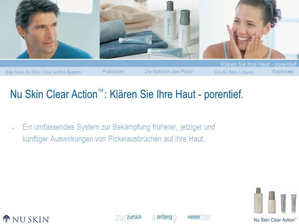 Nu Skin Clear Action™: Klären Sie Ihre Haut - porentief.