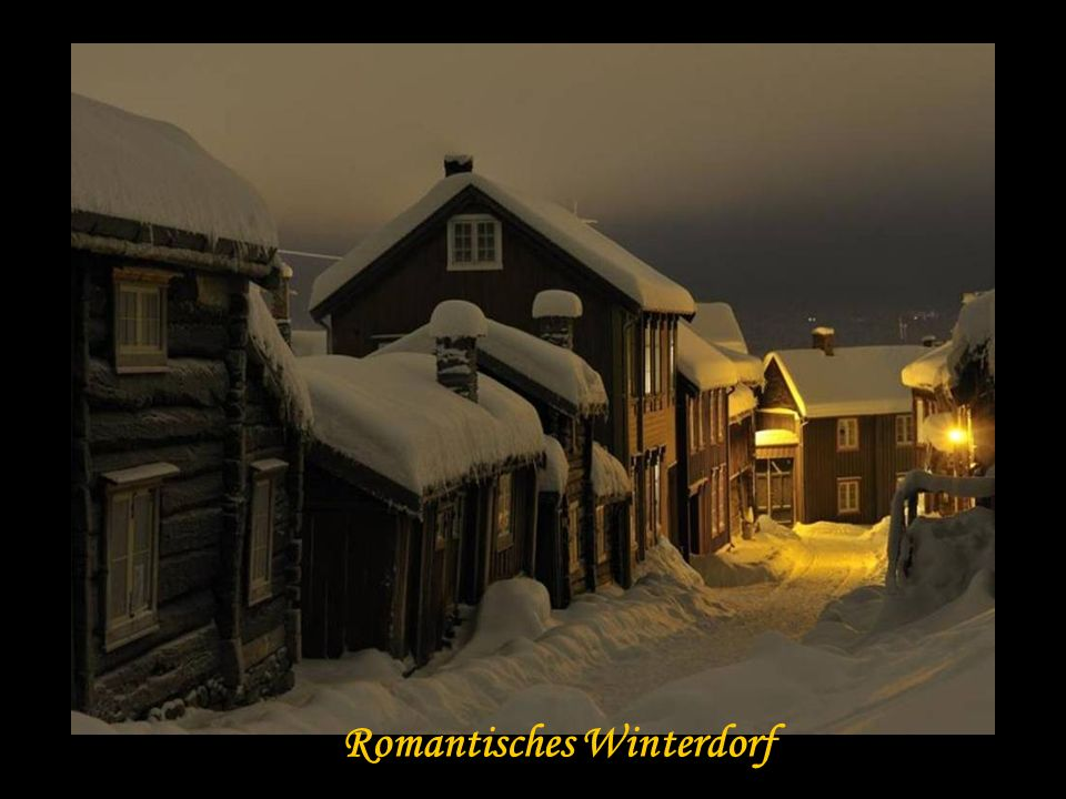 Romantisches Winterdorf