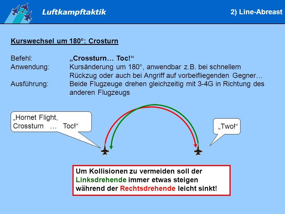 "2) Line-Abreast Kurswechsel um 180°: Crosturn. Befehl: ""Crossturn… Toc!"