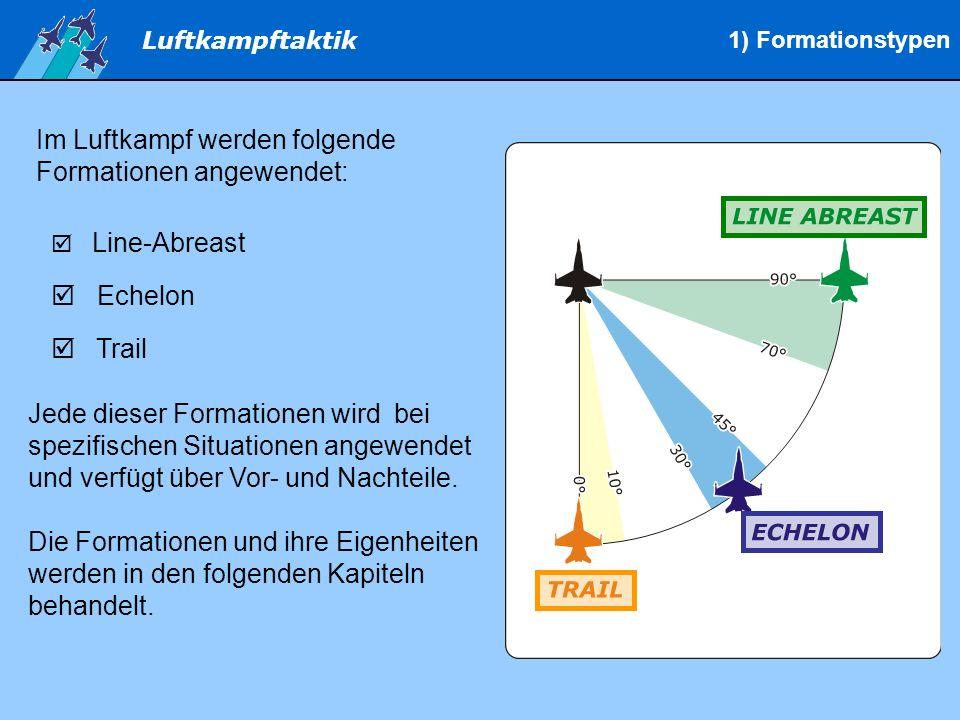 Im Luftkampf werden folgende Formationen angewendet: